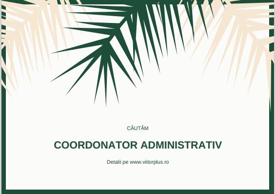 coordonator administrativ viitorplus